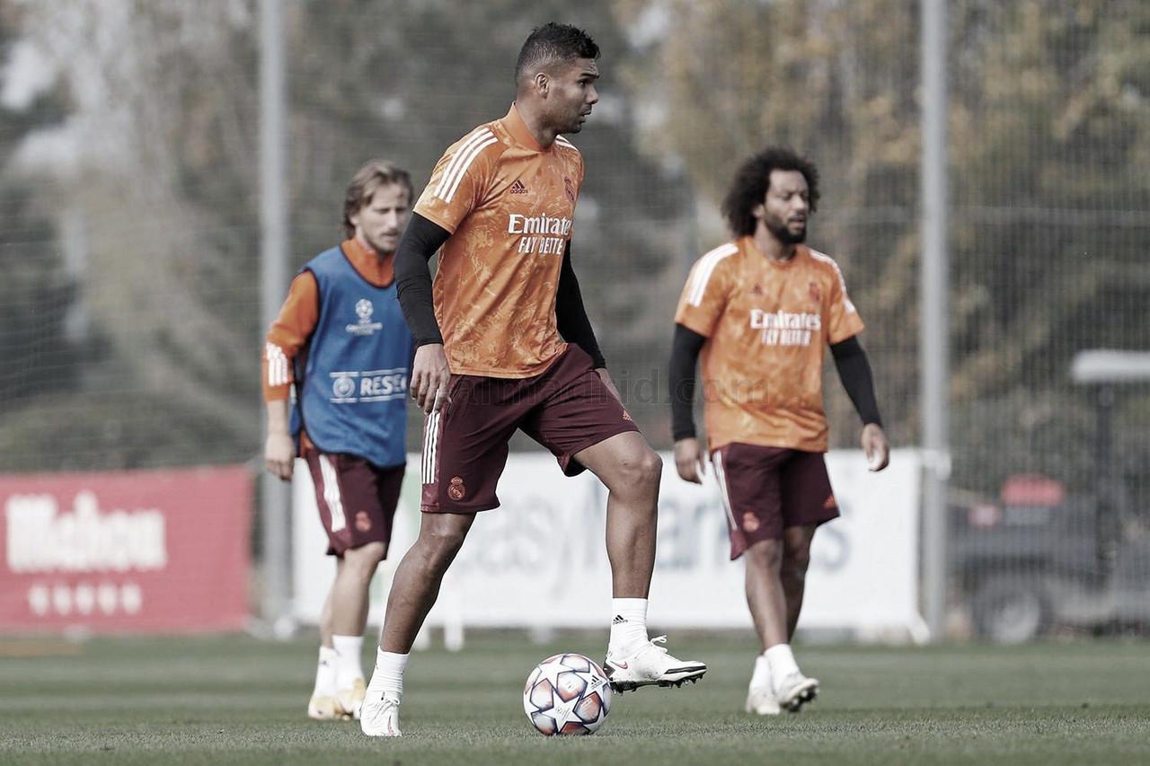 Último entrenamiento en Ciudad Real Madrid antes de Champions