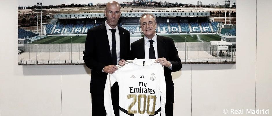 Zidane alcanza los 200 con el Real Madrid