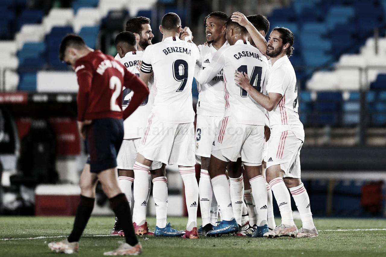 Real Madrid 2-0 Osasuna: Los blancos no se bajan de LaLiga