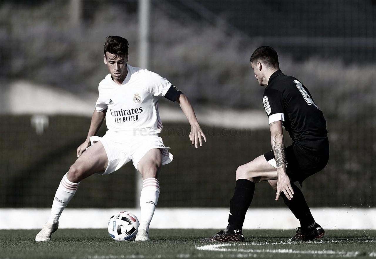 Antonio Blanco, capitán del Castilla ante la Cultural y Deportiva Leonesa