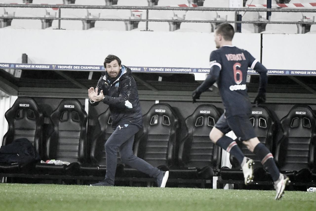 André Villas Boas em Paris Saint-Germain 2 a 1 Olympique Marseille (FFF / Divulgação)