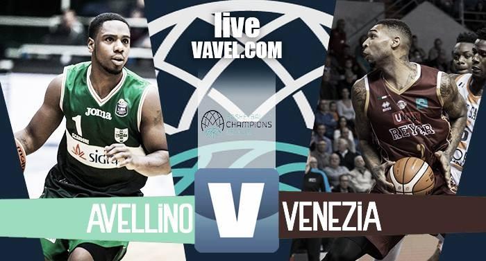Sidigas Avellino - Reyer Venezia in Champions League Basket (68-72): lagunari avanti, irpini eliminati