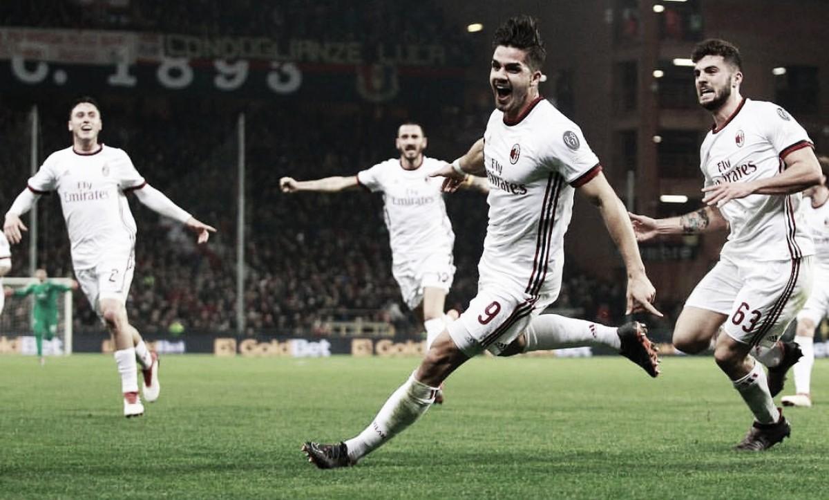 André Silva decide no último minuto, Milan vence Genoa e ultrapassa Sampdoria