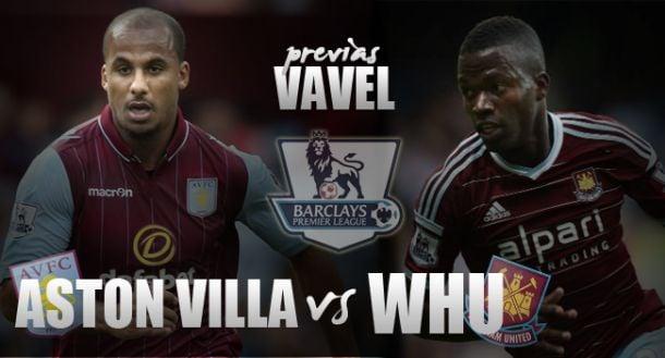 Aston Villa - West Ham: duelo 'claret and blue' por la permanencia