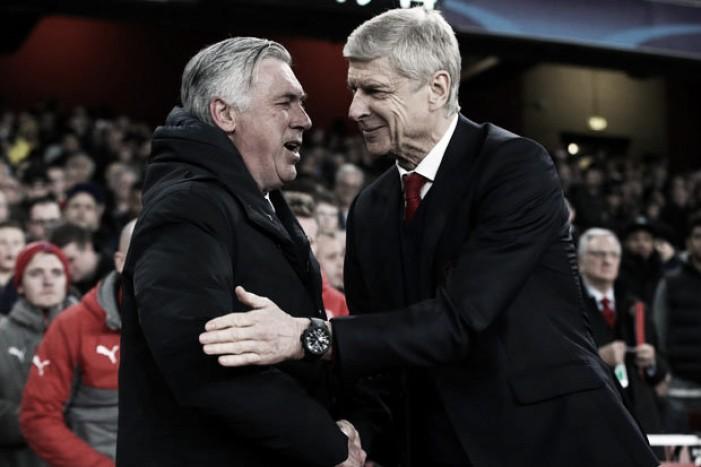 Champions League, la soddisfazione di Ancelotti e l'amarezza di Wenger