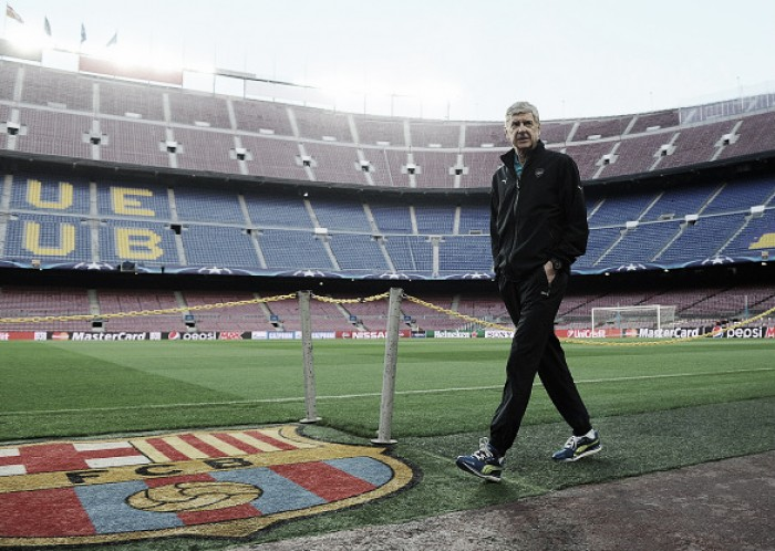 Wenger admits side need to charge at Barça ahead of second leg clash