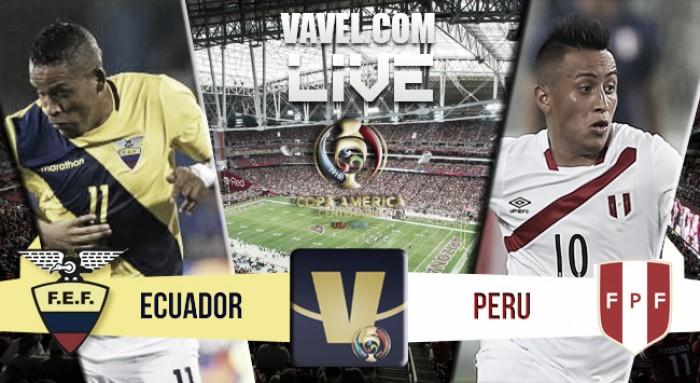 Resultado Equador x Peru na Copa América (2-2)