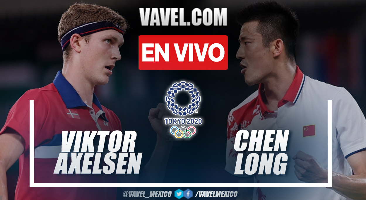 Resumen: Viktor Axelsen 2-0 Chen Long en la final de badminton en Tokio 2020