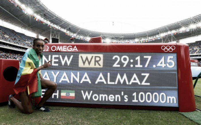 Rio 2016: Ayana smashes 23-year-old world record on her way to 10,000 metre title in astonishingly fast race