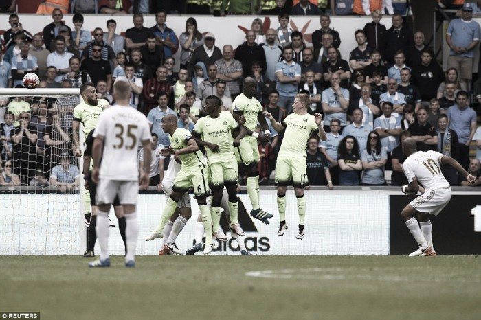 Swansea City 1-1 Manchester City: Swans nab a point as Citizens secure Champions League football