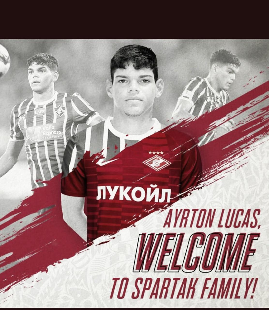 Spartak Moscou anuncia contratação de Ayrton Lucas, ex-Fluminense