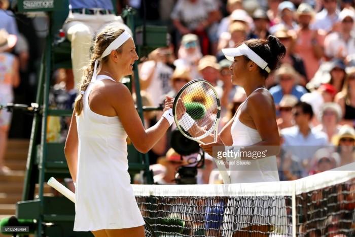 Wimbledon 2017: Azarenka outlasts Watson in Centre Court epic