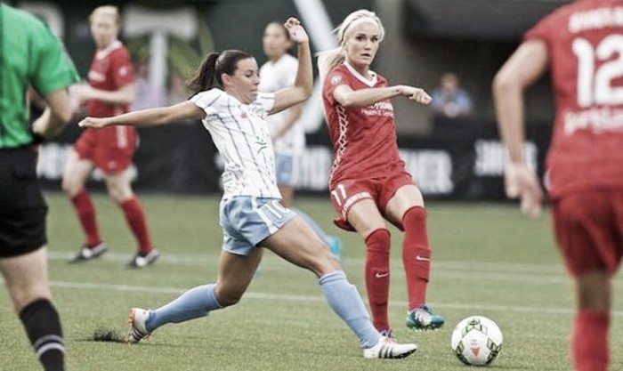 Score Chicago Red Stars - Portland Thorns FC 2016 NWSL (1-1)