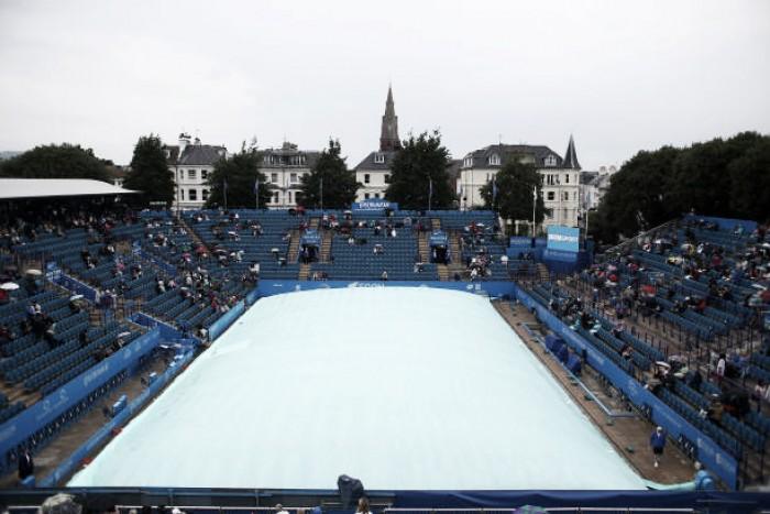 Rain wreaks havoc at the Aegon International