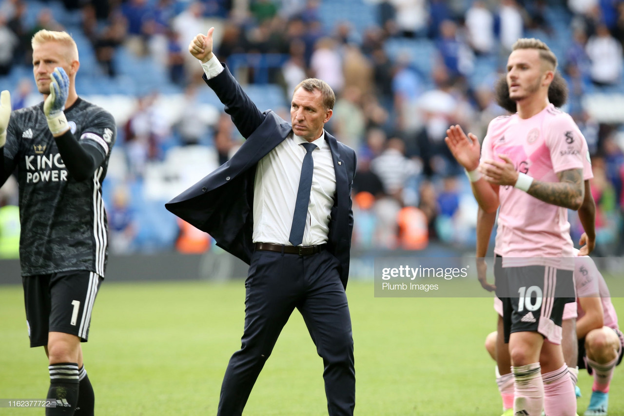 Brendan Rodgers 'satisfied' with Leicester's start to the season