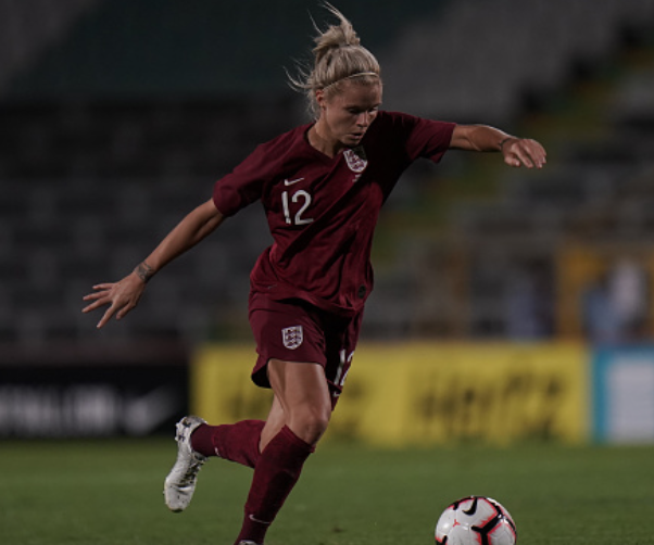 Houston Dash forward Rachel Daly and England prepare to host the 2021 European Championship. (Photo by Gualter Fatia/Getty Images)