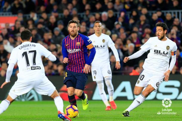 Barça-Valencia de la jornada 22 | Foto: La Liga Santander