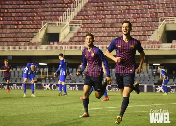 Imagen de los jugadores del Barça celebrando un gol. FOTO: Noelia Déniz