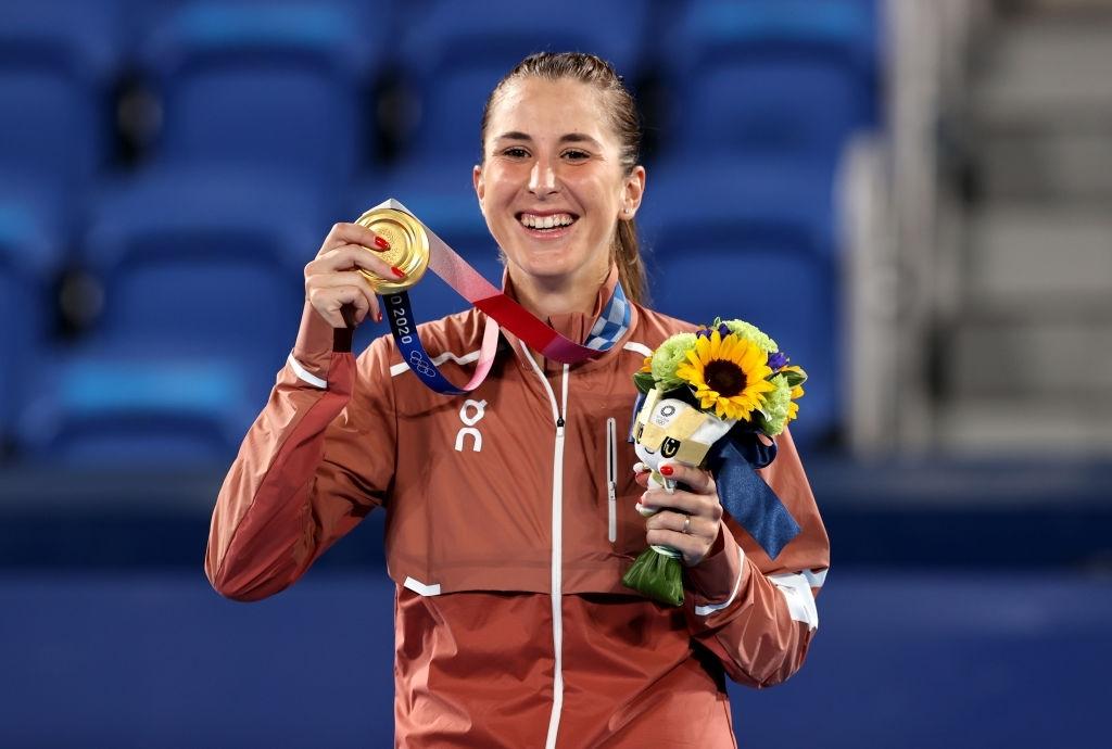 Tokyo 2020 Olympic women's singles champion Belinda Bencic. Photo: