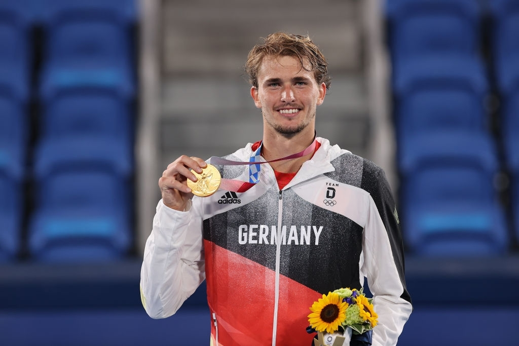 Tokyo 2020 Olympic men's singles champion Alexander Zverev. Photo: