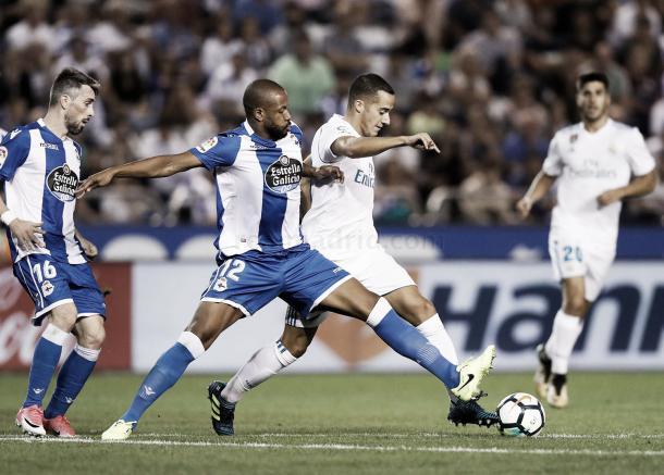 Vázquez, en el partido donde llegó a los 50 triunfos | Foto: Ángel Martínez (Real Madrid C.F.)
