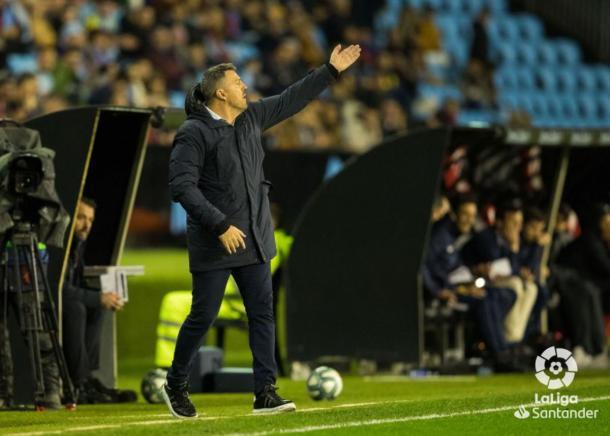 Óscar Garcia durante un partido. Foto: LaLiga