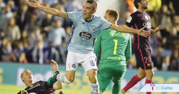 Iago Aspas, el hombre gol del Celta.   Foto: RC Celta