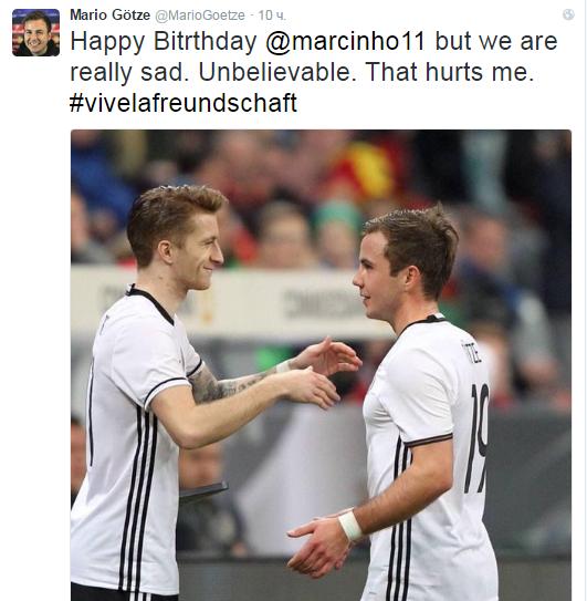 С Днём Рождения, Марко, но мне действительно грустно. Невероятно. Это причиняет мне боль.