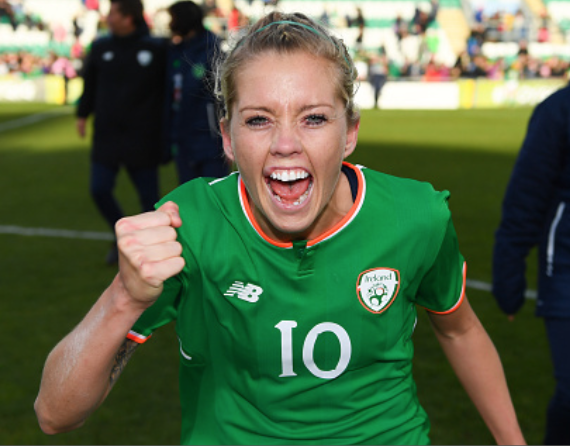 Republic of Ireland and North Carolina Courage midfielder Denise O'Sullivan. (Photo By Stephen McCarthy/Sportsfile via Getty Images)