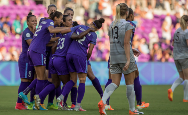 This is the first matchup between Orlando Pride and North Carolina (Photo by Joe Petro/Icon Sportswire via Getty Images)