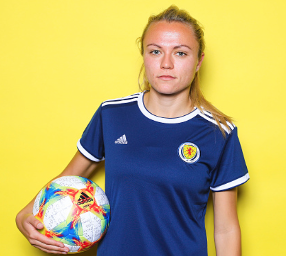 Scotland WNT and Orlando Pride forward Claire Emslie (Photo by Marianna Massey - FIFA/FIFA via Getty Images)