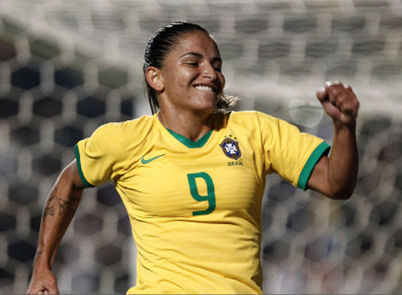 North Carolina Courage midfielder Debinha returns to Brazilian National team. (Photo by Miguel Schincariol/Getty Images)