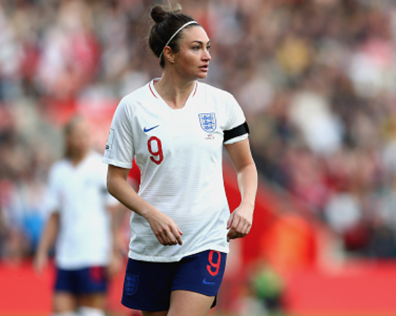 Jodie Taylor and England will hope to qualify for the 2019 Women's World Cup against Wales on August 31. (Photo by Naomi Baker/Getty Images)