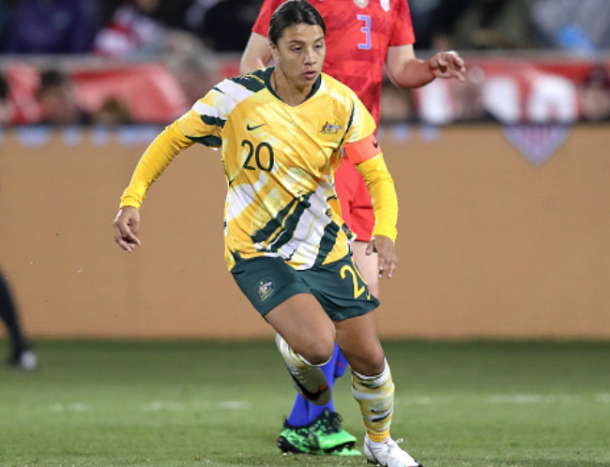 Superstar and Australia's captain Sam Kerr (Photo by Robin Alam/Icon Sportswire via Getty Images)