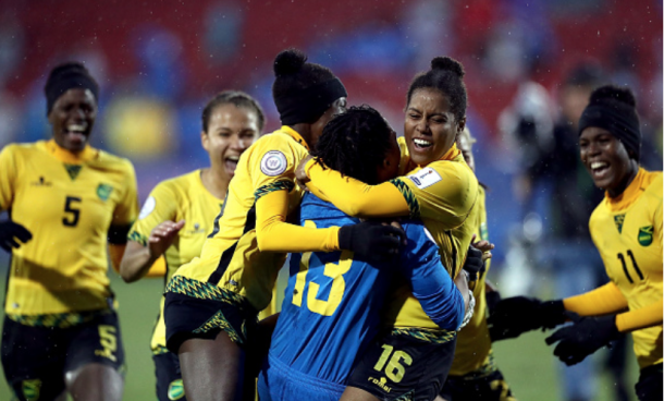 Jamaica are the first Caribbean side to qualify for the FIFA Women's World Cup. (Photo by Ronald Martinez/Getty Images)