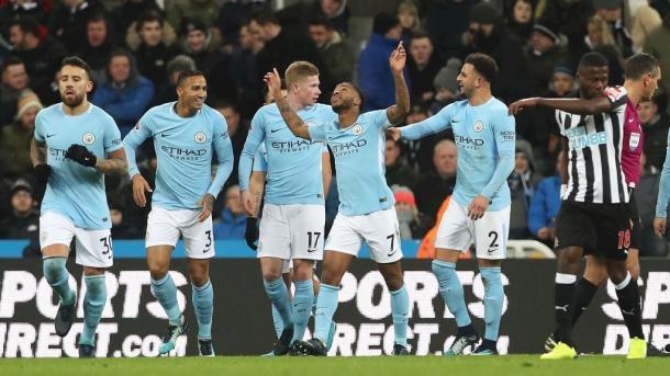 Sterling dio la victoria a los suyos ante el Newcastle | FOTO: Manchester City