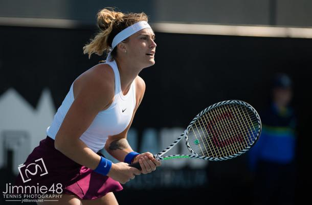 Sabalenka has played five sets in Adelaide that have all ended either with a 7-5 or 6-1 scoreline/Photo: Jimmie48 photography