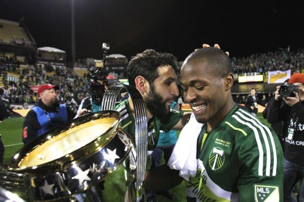 Diego Valeri (Left) and Darlington Nagbe (Right) is the engine to the Timbers offense and the main reason why they won the 2015 MLS Cup. Photo provided by Jaime Valdez-Portland Tribune.