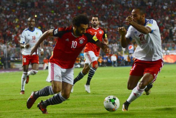 Salah, meia-atacante do Liverpool, é um dos principais nomes para ajudar os Faraós (Foto: Tarek Abdel Hamid/AFP)