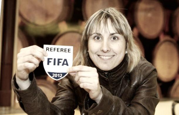 Marta Frías, la encargada de dirigir el encuentro en tierras andaluzas | RFEF