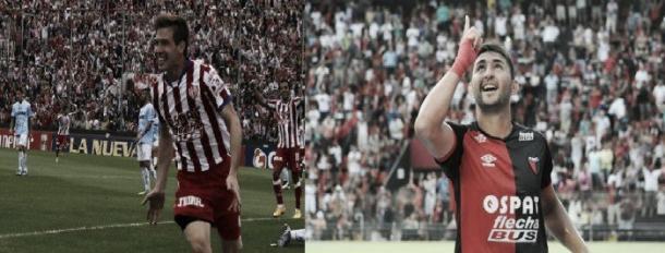 Riaño (derecha) y Ruiz (izquierda) serán las principales armas de ataque para el partido Colón - Unión | Imagen web