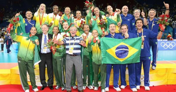 Seleção Brasileira Feminina campeã olímpica de 2008 (Getty Images)