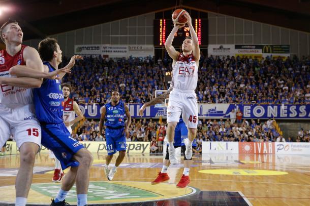 Bertans Dairis Germani Leonessa Basket Brescia - EA7 Olimpia Milano Legabasket Serie A 2017/18 Semifinali, Gara 04 Montichiari, 30/05/2018 Foto MarcoBrondi / Ciamillo-Castoria