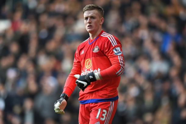 Young Jordan Pickford is set to replace Vito Mannone in goal tomorrow. (Photo: Getty)