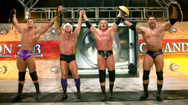 The original Evolution enjoyed major success during their period (image: WWE.com)