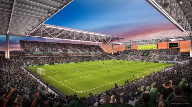Imagen del diseño del Austin FC Stadium (kut.org)