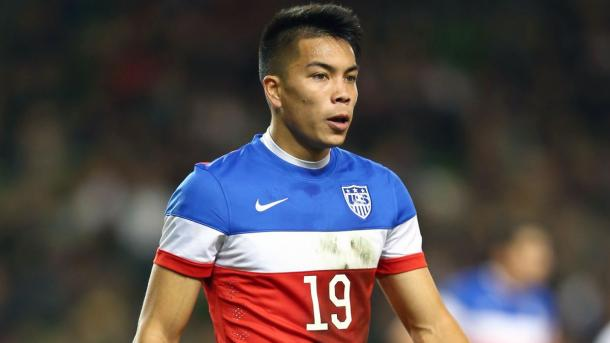 Bobby Wood's pace, strength and finishing ability will need to be on display on Friday at the Estadio Mateo Flores. Photo provided by Getty Images Europe.