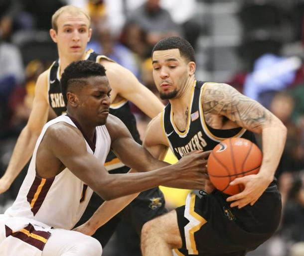 Fred VanVleet struggled tonight. Jaime Green/The Wichita Eagle
