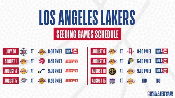 Calendario Lakers // NBA