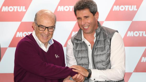 Carmelo Ezpeleta y Sergio Uñac Foto: WorldSBK